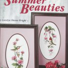 Summer Beauties cross stitch pattern designs Leisure Arts 2436 hummingbirds