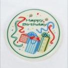 Longaberger tie-on Happy Birthday ceramic ties on baskets