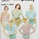 Simplicity 8185 6 blouse patterns sizes Petite Small Medium  UNCUT
