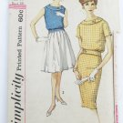 Simplicity 3381 misses top skirt vintage 1960s size 14 bust 34