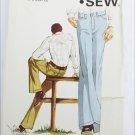 Kwik Sew 411 man's jeans sizes 36 38 40 uncut stretch knits