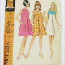 McCall 8755 vintage maternity dress pattern size 14 B34 tent style