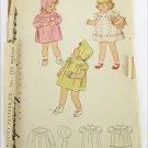 Simplicity 1530 vintage 1945 girls toddler coat hat dress size 2 pattern