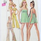 Simplicity 8199 misses bathing suit & hip hugger bell pants zize 12 from 1969