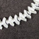 "Leru necklace silver tone links 16"" choker tooled vintage jewelry"