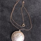 Avon glace necklace round disc delicate chain held Rapture