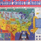 United States Whitman puzzle map 1965 complete but used