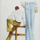 Kwik Sew 410 man's jeans pattern sizes 30 32 34 double knits