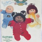 Cabbage Patch Kids Butterick 329 pajama nightgown top pants pattern