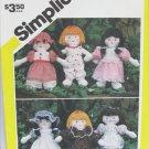"Simplicity 5785 mini 7 1/4"" doll and wardrobe pattern"