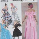 Simplicity 7059 misses formal gown dress sizes 4 6 8 10 pattern