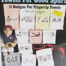 Leisure Arts 560 Towels for Good Sports cross stitch leaflet