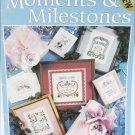 Leisure Arts 2699 Moments & Milestones Birth weddings & more cross stitch booklet