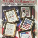 Leisure Arts Salute to America 5 mini patriotic samplers