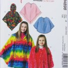 McCall M4898 girl's poncho size Xsm-Small sewing pattern