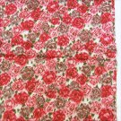 "Silky fabric probably polyester bleeding rose look 44"" wide"