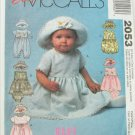 McCall 2053 dress romper infants size S 13 to 15 lbs pattern