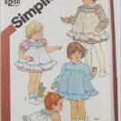 Simplicity 5777 size 1 toddler dress pinafore panties pattern