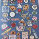 Cross stitch pins #2 pumpkins cow applebear flag rose pattern booklet
