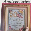 Wedding Anniversaries samplers from Dakota Cross Stitch Co patterns