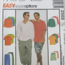 McCall 2568 man's top pull-on pants shorts sizes S M pattern