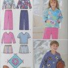 Simplicity 4816 child pants knit tops pillows sizes 3 4 5 6 7 8 UNCUT pattern