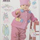 Butterick 6280 Infant jacket vest jumper jumpsuit hat size L - XL UNCUT pattern
