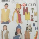 Simplicity 9500 Misses Mens Teens Vests hats scarfs sizes S M L UNCUT pattern
