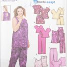 Simplicity 9772 misses top shorts pants sizes 18W to 24W UNCUT pattern