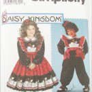 Simplicity 8659 girls dress pinafore Jumpsuit Daisy Kingdom sizes 5 and 6X UNCUT pattern