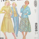 McCall 6265 Misses jacket top skirt pants sizes 18 UNCUT pattern