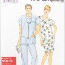 Simplicity 8730 misses mens teens nurse top pants sizes S M L XL UNCUT pattern