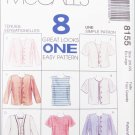 McCall 8155 misses top & jacekt sizes 20 22 UNCUT pattern