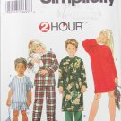 Simplicity 7407 child's pajamas nightshirt robe bag booties sizes 3 4 5 6 UNCUT pattern