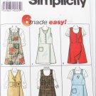 Simplicity 7267 misses skort jumper sizes 4 6 8 UNCUT pattern
