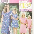 Simplicity 0630 misses & girls matching dress size 12 to 20 & 3 to 8 UNCUT