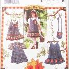 Simplicity 7015 girls jumper dress blouse purse sizes 3 4 5 6 UNCUT pattern