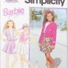Simplicity 7846 girls shorts tank top jacket vest sizes 7 8 10 UNCUT pattern