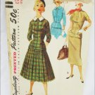 Simplicity 1221 vintage 1955 misses 2 piece dress pattern size 12 bust 30