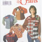 Simplicity 7505 misses shirt with appliques sizes 18 20 22 pattern