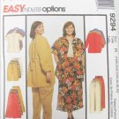 McCall 9294 misses shirt pants shorts skirt sizes 18W 20W 22W pattern