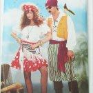 Butterick 6731 costume pattern pirate man woman sizes XS S M L UNCUT