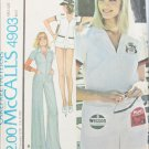 McCall 4903 vintage misses jumpsuit tennis outfit size 12 pattern