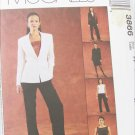 McCall 3866 misses lined jacket top pants skirt sizes 16 18 20 22