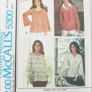 McCall 5300 misses set of tops size Large pattern Marlo's Corner