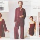 Vogue 2006 Lauren Sara design misses dress pants tunic UNCUT sizes 20 22 24