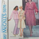 McCall 5976 misses pleated top dress top size XL UNCUT pattern