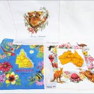 3 Australia Koala Map by Heil & Queensland handkerchiefs souvenirs