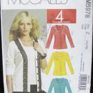 McCall 5978 misses cardigan & top sizes L XL stretch fabric pattern