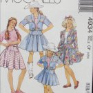McCall 4934 girls western jacket skirt top sizes 4 5 6 Stretch knits